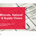 Critical Minerals, National Security & Supply Chains (Audio)